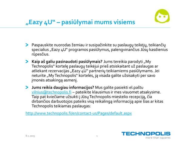 Eazy 4U service providers Vilnius