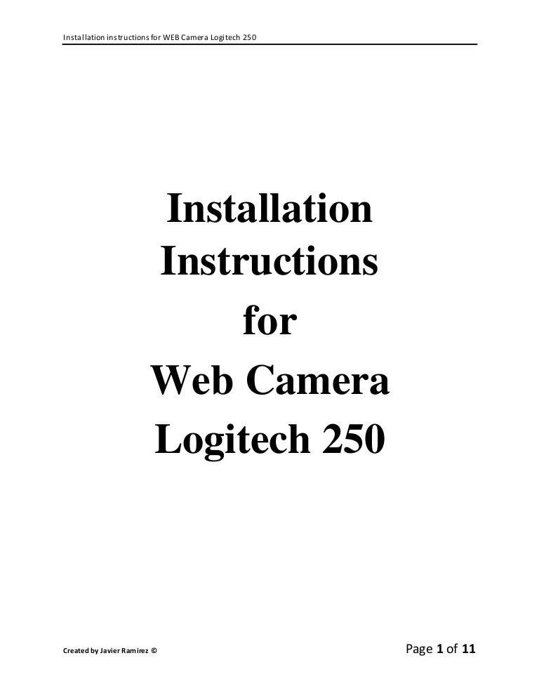 Web camera instructions.