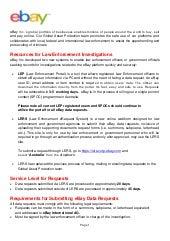 ebay Australia Law Enforcement Guide