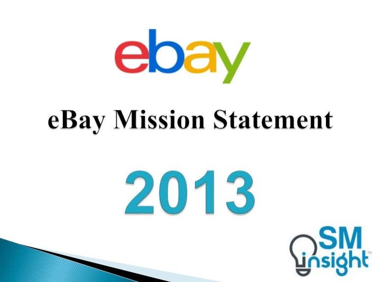 Ebay Mission Statement