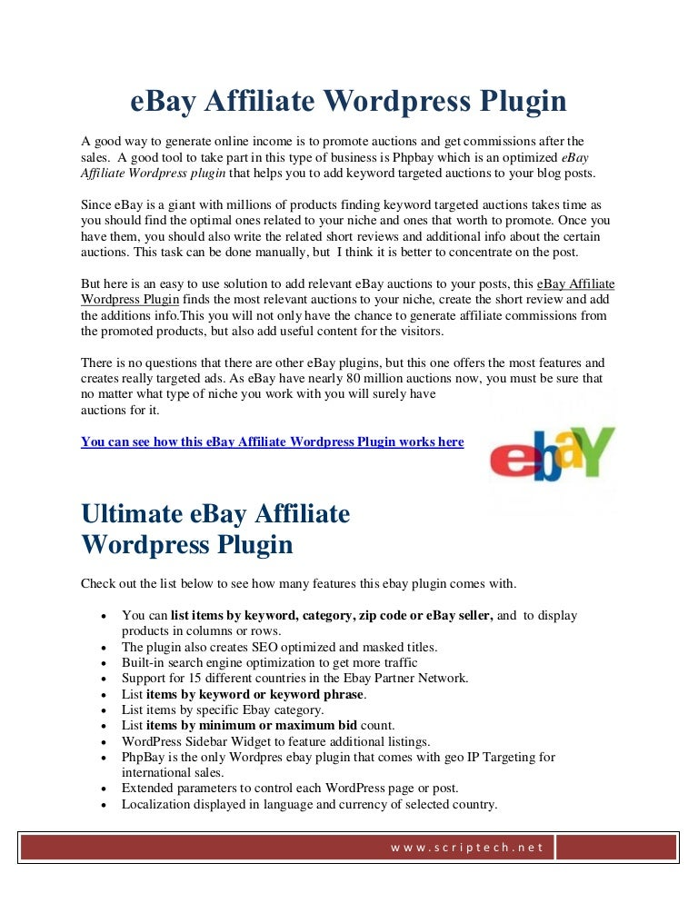 Ebay Wordpress Plugin That Really Helps To Get More Commissions