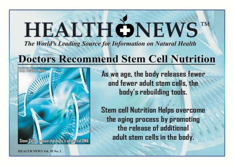 Stem cell nutrition recommended by the doctors fandeluxe