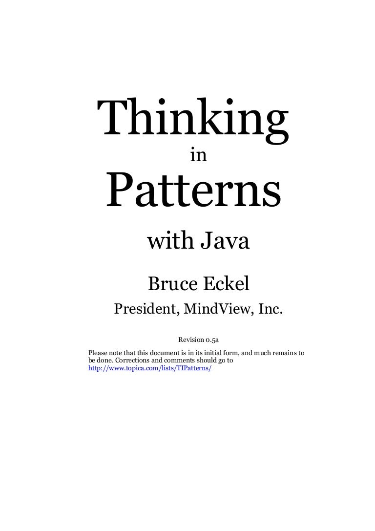 E book pdf thinking in patterns with java e book pdf thinking in patterns with java fandeluxe Choice Image