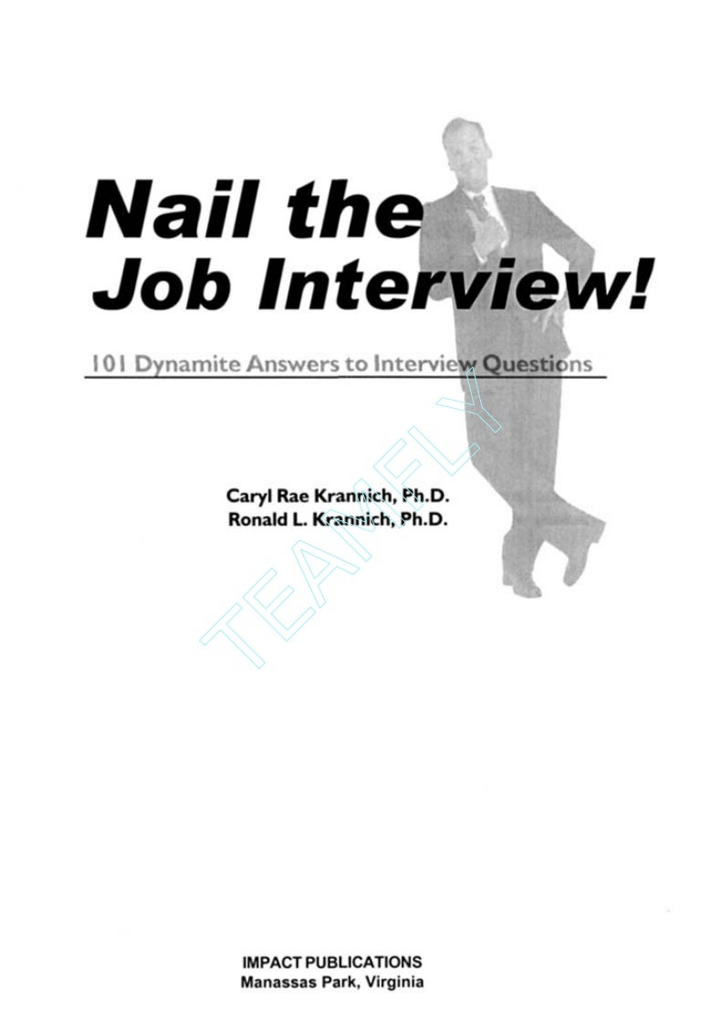 (Ebook resume) job interview - 101 dynamite answers to interview qu…