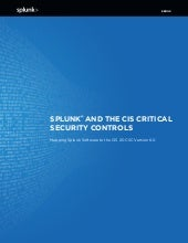 Ebook: Splunk SANS - CIS Top 20 Critical Security Controls