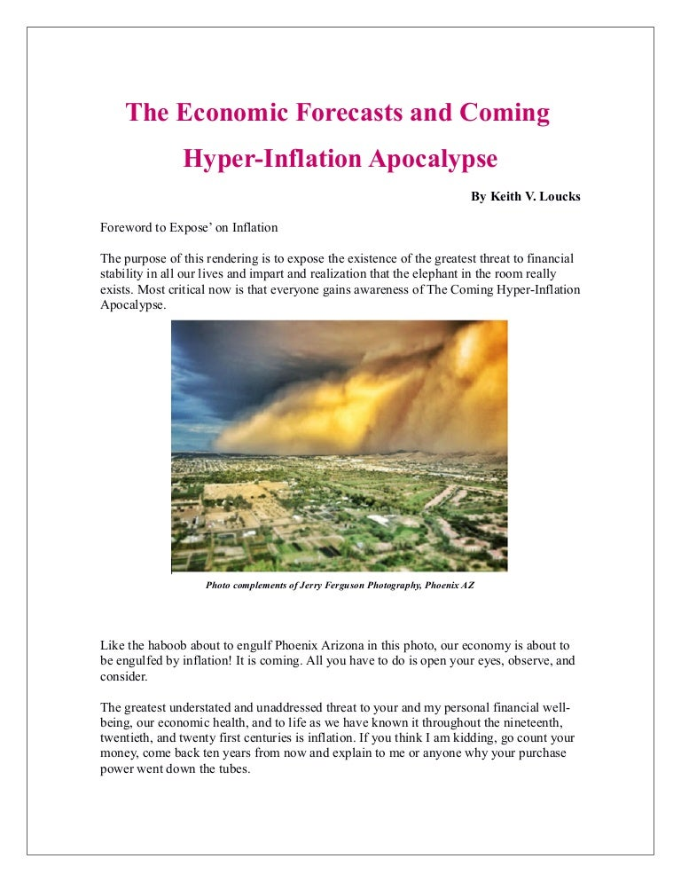 The economic forecasts the coming hyper inflation apocalypse fandeluxe Gallery