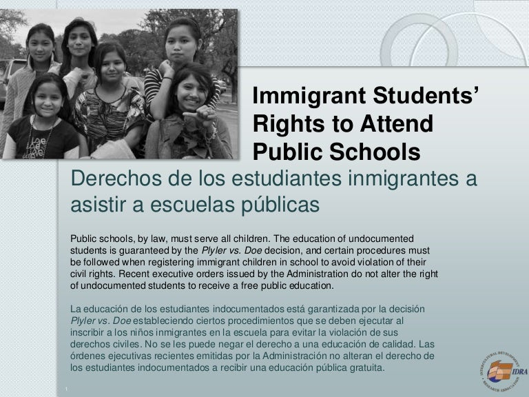 eBook Immigrant Students\' Rights to Attend Public Schools 2017