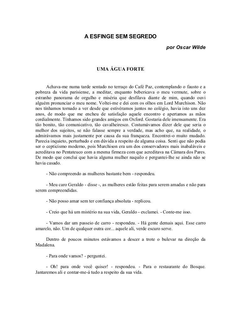 E-book Oscar Wilde, A esfinge sem segredo