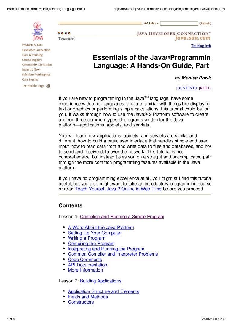 Ebook pdf) java programming language basics