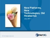 New Platforms, New Technologies, Old Headaches