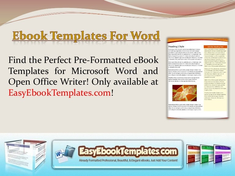 Ebook templates for word