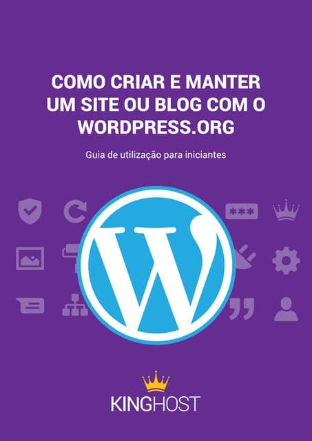 [E-book] Como criar e manter um site ou blog com o Wordpress