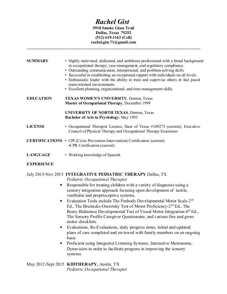 Resume1 Rachelgist111015