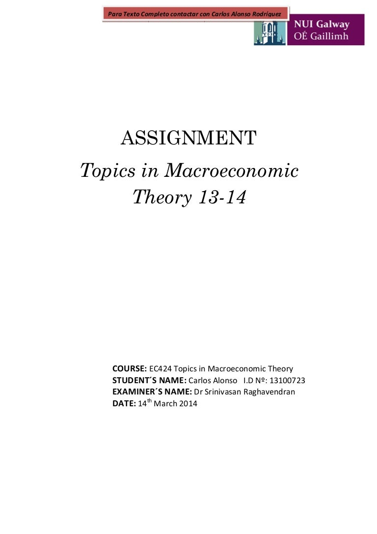 essay topics in macroeconomics theory