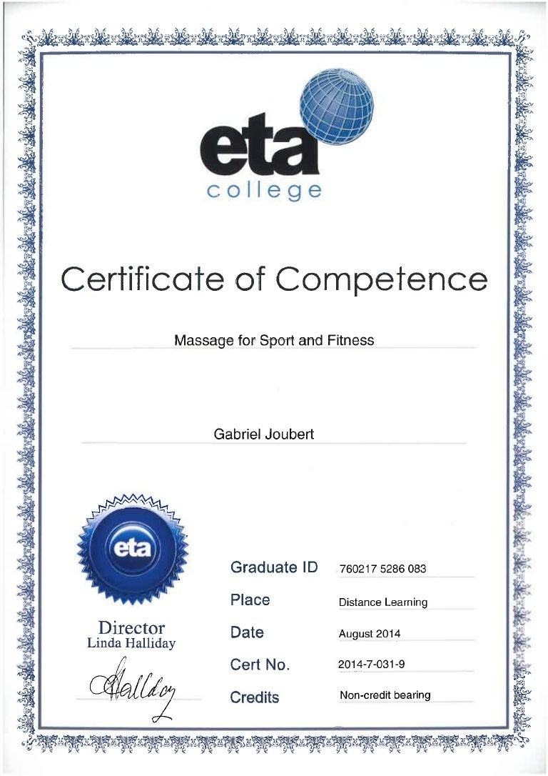 Eta college massage for sport and fitness certificate 1betcityfo Images