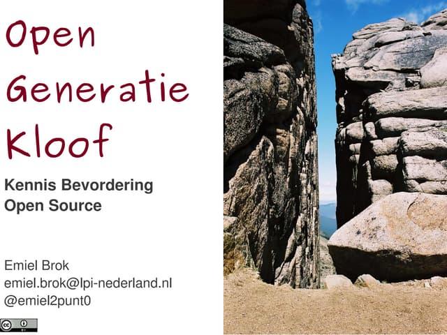 Ecabo 2012 open generatiekloof