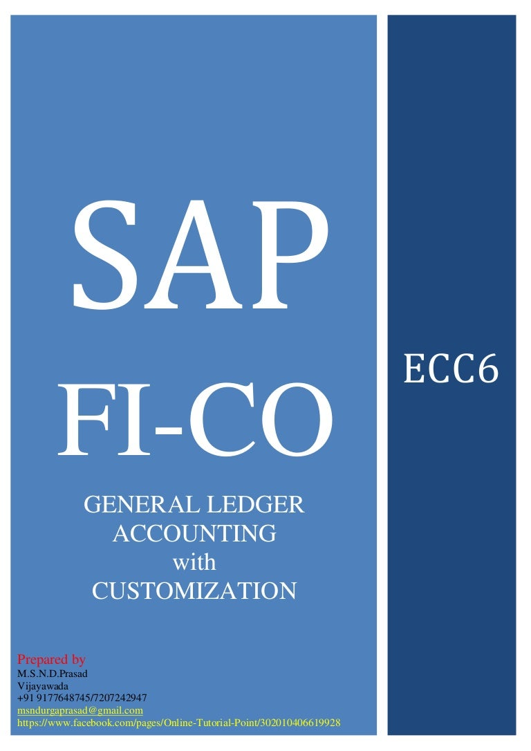 SAP FINANCE GENERAL LEDGER ACCOUNTING