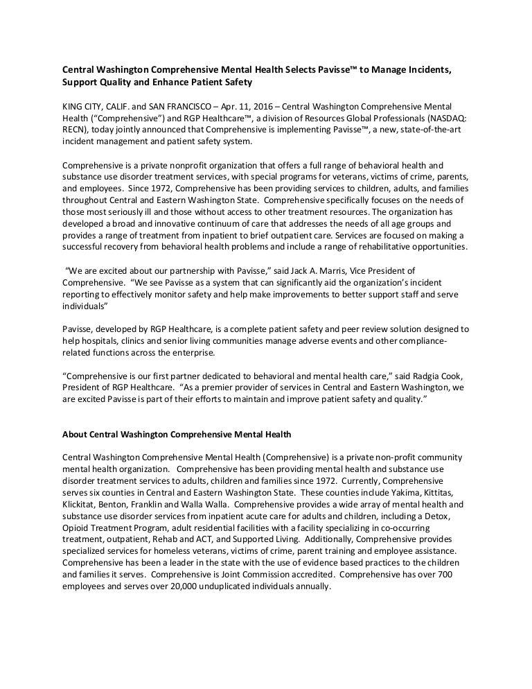 Comprehensive Press Release