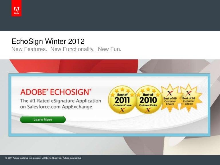 EchoSign Winter 2012 Release - Feb '12