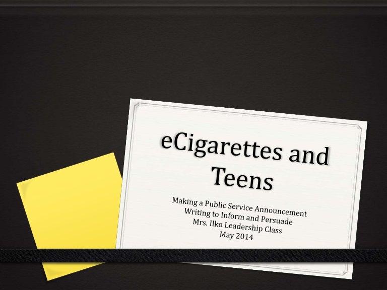 E cigarette psa project
