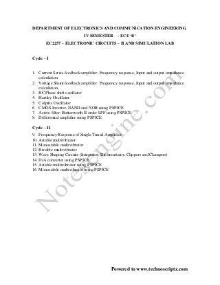 Ec ii lab manual