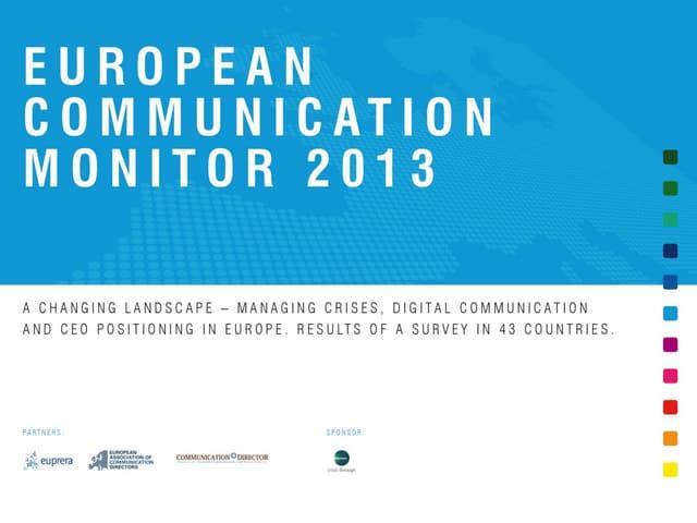 European Communication Monitor - ECM 2013 - Results