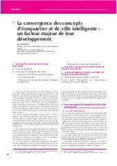 Convergence des concepts d'Ecoquatrier et de Smart City