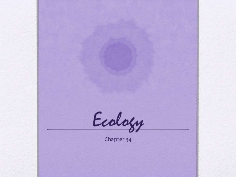 Ecology chapter 3