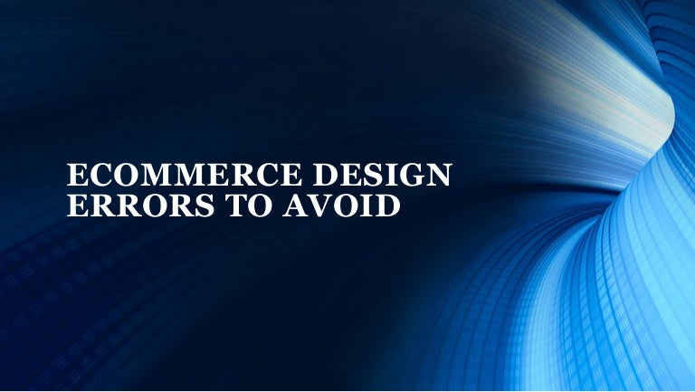 Common Design Errors to Evade in Online Shopping Website
