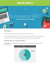 Ecommerce SEO Guide by Backlinko