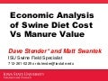 Economic Analysis of Swine Diet Cost Versus Manure Value