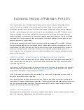 Economic history of pakistan