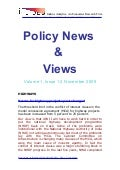 Economic Policy News  &  Views November 2009
