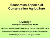 Economics aspects of conservation agriculture