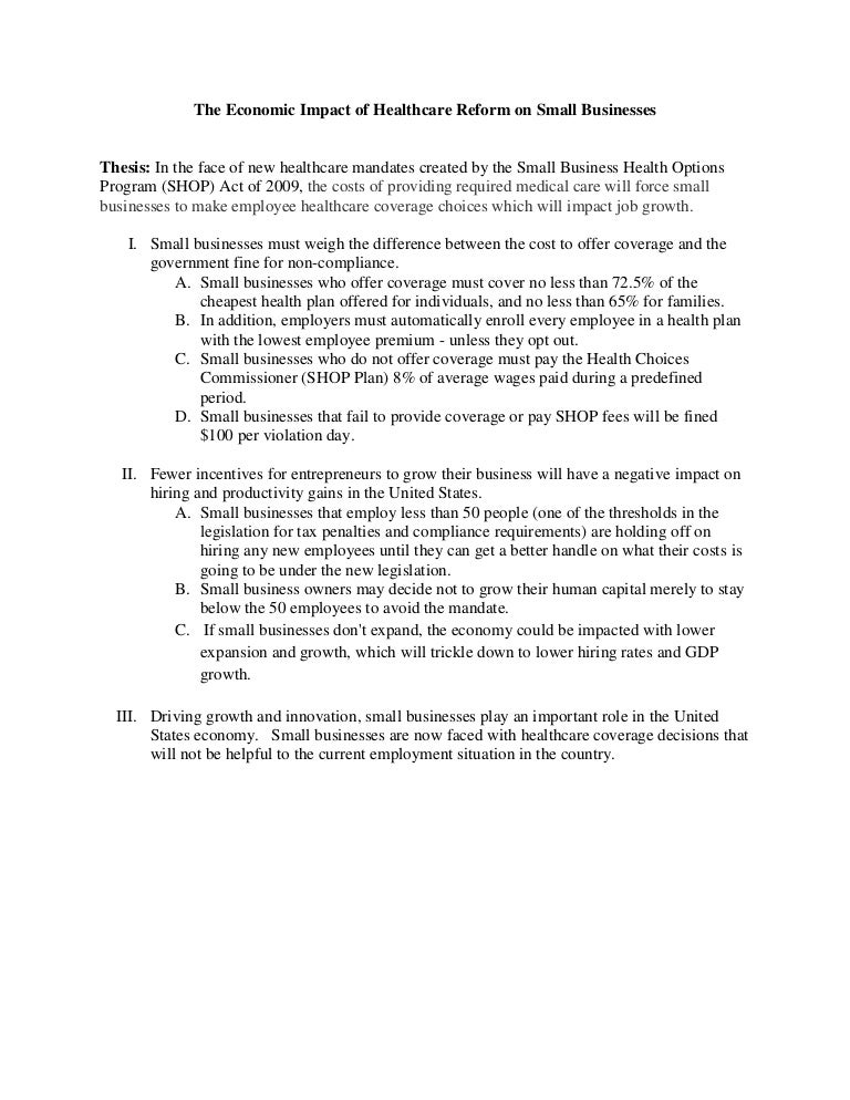 health care bill and impact on the community essay