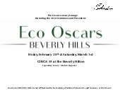 Eco Oscars BEVERLY HILLS 2014