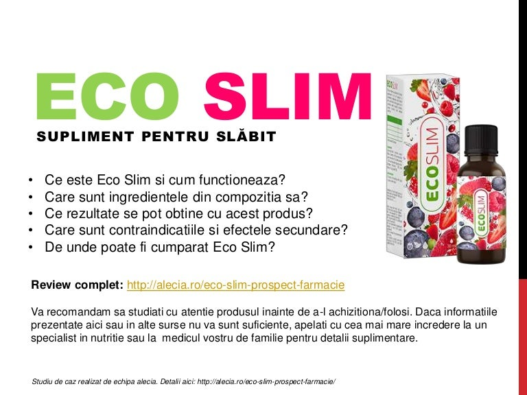 eco slim este vândut în farmacie cum să pierdeți instrucțiunile din greutate