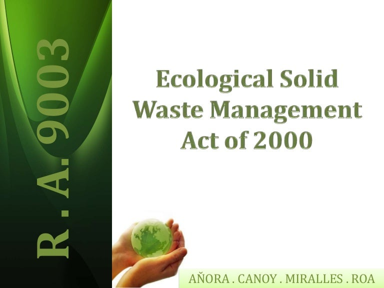 Ecological Sold Waste Management