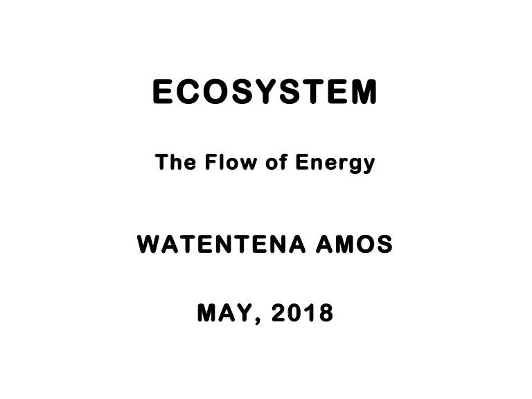Ecosystem and The Flow of Energy in an Ecosytem