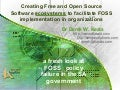 Creating Free and Open Source Software ecosystems to facilitate FOSS implementation in organizations
