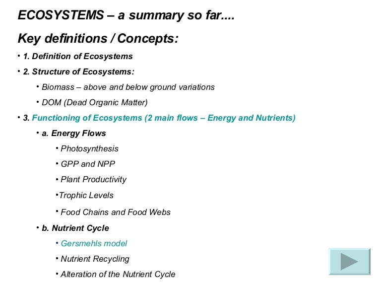 Ecosystems Succession and Key Terms – Nutrient Cycle Worksheet