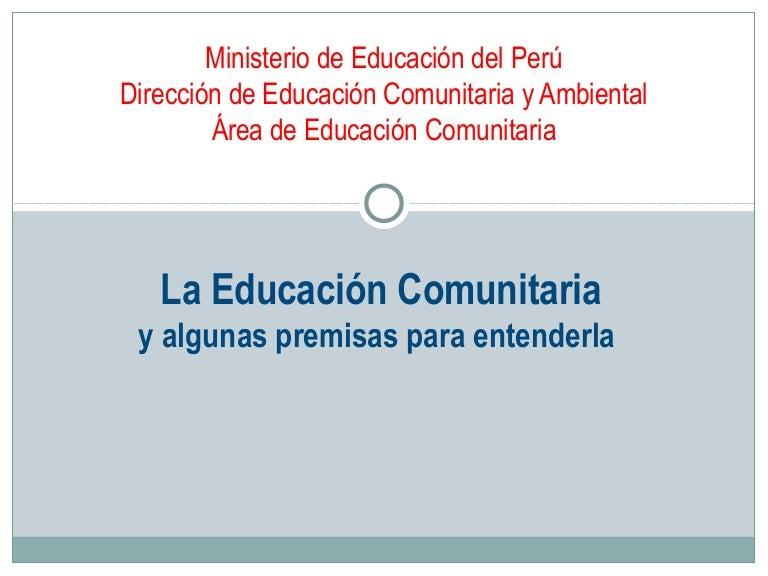 Ec Para Entender Educacion Comunitaria