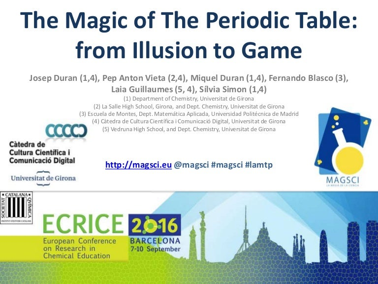 The magic of the periodic table from illusion to game urtaz Choice Image