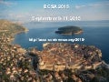 European Conference on Software Architecture - ECSA 2015 Announcement