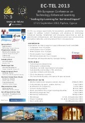 EC-TEL 2013 Call for Papers