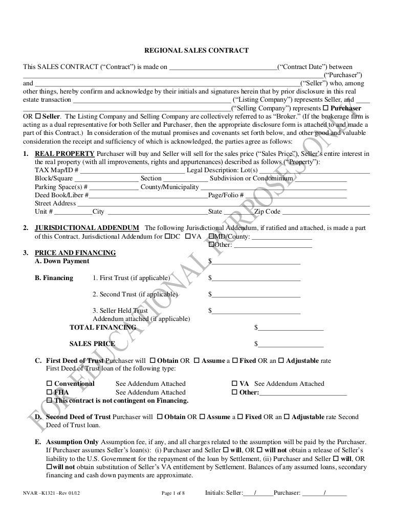 Ed 2011 Regional Sales Contract