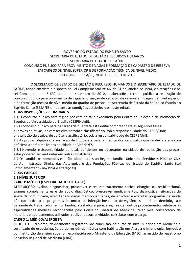Concurso SESA 2013 c084ec49a534f
