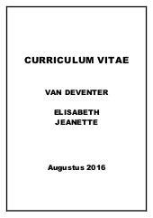 Curriculum Vitae Doc Lizelle