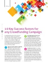 10 Key Success Factors for any Crowdfunding Campaigns