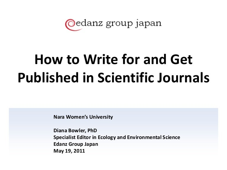 How to get published in Scientific Journals